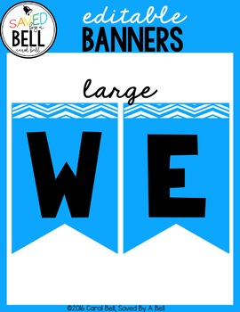 Free Welcome Back Editable Banners
