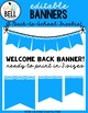 Free Editable Welcome Back Banners (Serenity Series)