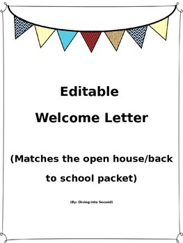 Editable Banner Welcome Letter