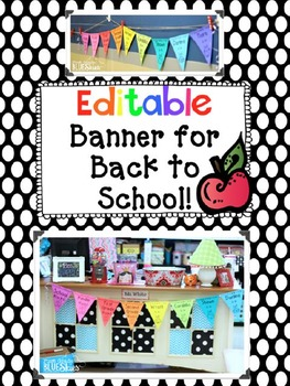 Editable Banner for Back to School