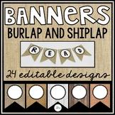 Editable Banners - 24 Burlap and Shiplap Designs