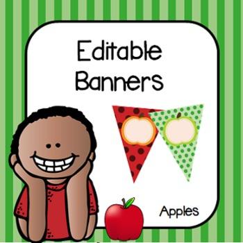 Editable Banners- Apple Theme- FALL FREEBIE