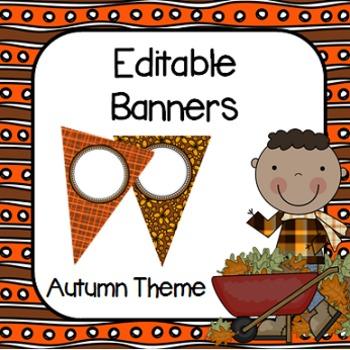 "Editable Banners- ""Autumn (Fall) Colors"""