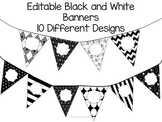 Editable Banners Black and White