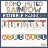Editable Banners Boho Rainbow Bunting