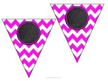 Editable Banners Bright Neon Colors
