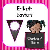 Editable Banners- Chalkboard Theme