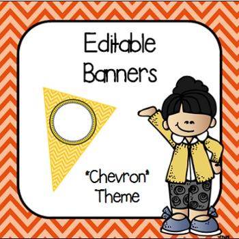 Editable Banners- Chevron
