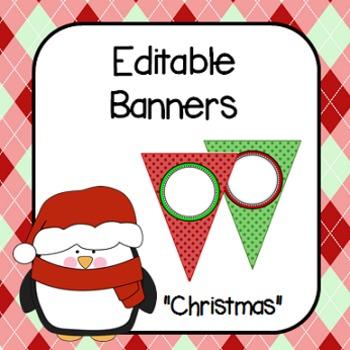 Editable Banners- Christmas