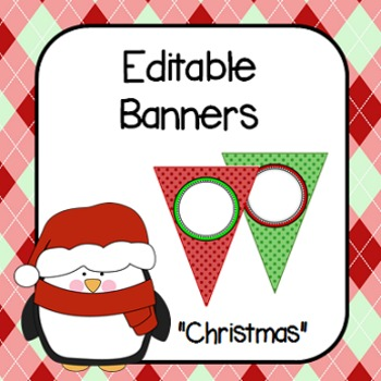 Editable Banners- Christmas