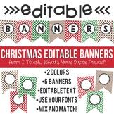 Editable Banners Christmas Holidays