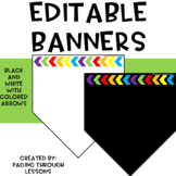 Editable Banners ~ Colorful Arrow Edition