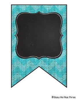 Editable Banners {Colorful Chevron Burlap & Chalkboard Theme}
