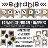 Farmhouse Editable Banners