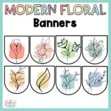 Editable Banners Floral Classroom Decor Editable Bunting