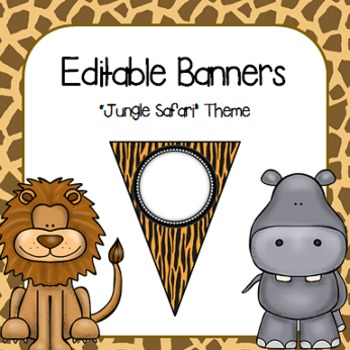 Editable Banners- Jungle Safari
