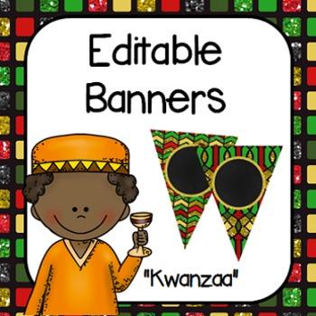 "Editable Banners- ""Kwanzaa"""