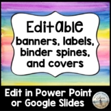 Editable Banners, Labels, Binder Spines & Covers - Waterco