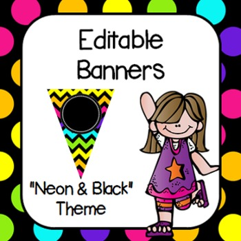 "Editable Banners- ""Neon Brights"""