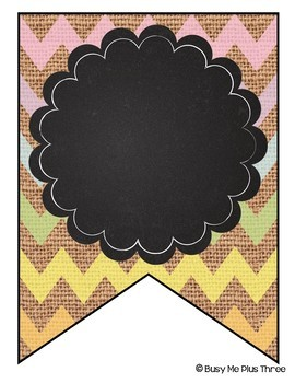 Editable Banners {Pastel Chevron Burlap & Chalkboard Theme}