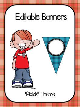 Editable Banners- Plaids