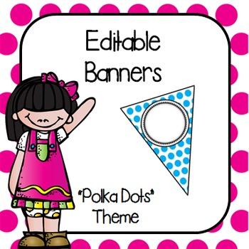 Editable Banners- Polka Dots