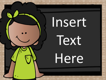 Editable Banners, Signs, and Labels - Chalkboard and Burlap Version