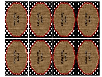 Editable Banners & Slides- Bright Red, Burlap, and Dots