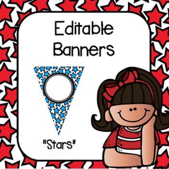 "Editable Banners- ""Stars"""