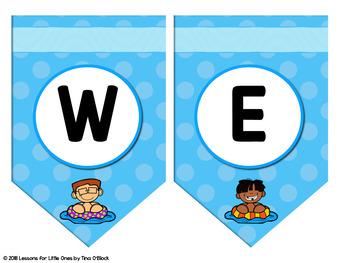 Editable Banners & Welcome Pennants Beach Theme (4 Designs)