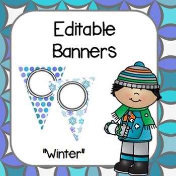 "Editable Banners- ""Winter Theme"""