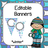 "Editable Banners- ""Winter Theme"""