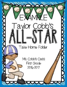 Editable Baseball Folder Template