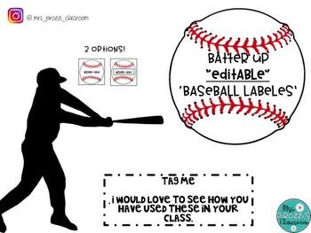 Editable Baseball Labels