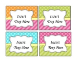 Editable Basket Labels