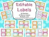 Editable Basket Labels Places