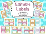 Editable Basket Labels Places