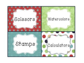 Editable Basket Labels Smooth Colors