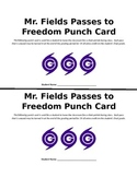 Editable Bathroom Passes to Freedom Punch Card