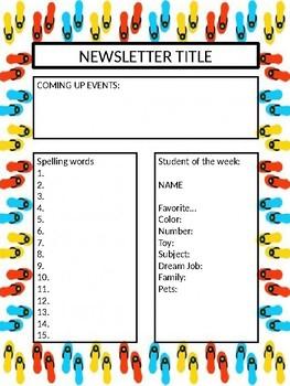 Editable Beach Newsletter Template