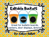 Editable Beach Pails {Centers, Door Display, Bulletin Boards}