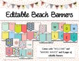 Editable Beach Theme Banners