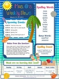 Editable Beach Theme Elementary Newsletter
