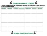 Editable Beach Theme  Reading Calendar