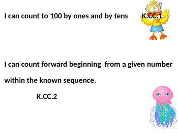 Editable Beach Themed Kindergarten ELA and Math Common Core I Can Statements