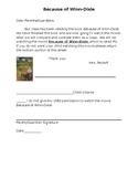Editable Because of Winn-Dixie Movie Permission Slip