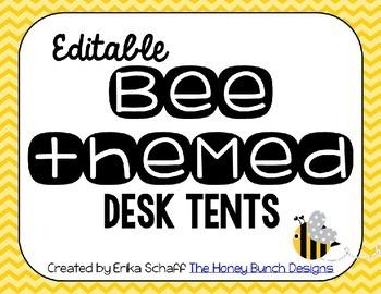 Editable Bee Desk Tents