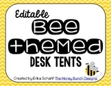 Editable Bee Desk Tents