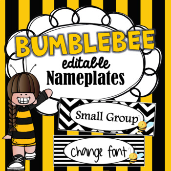 Editable Bee Nameplates