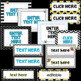 Nameplates and Classroom Signs- Editable Bee Theme